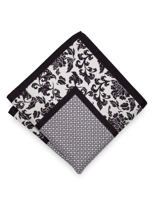 Silk Paisley & Medallion Pocket Square