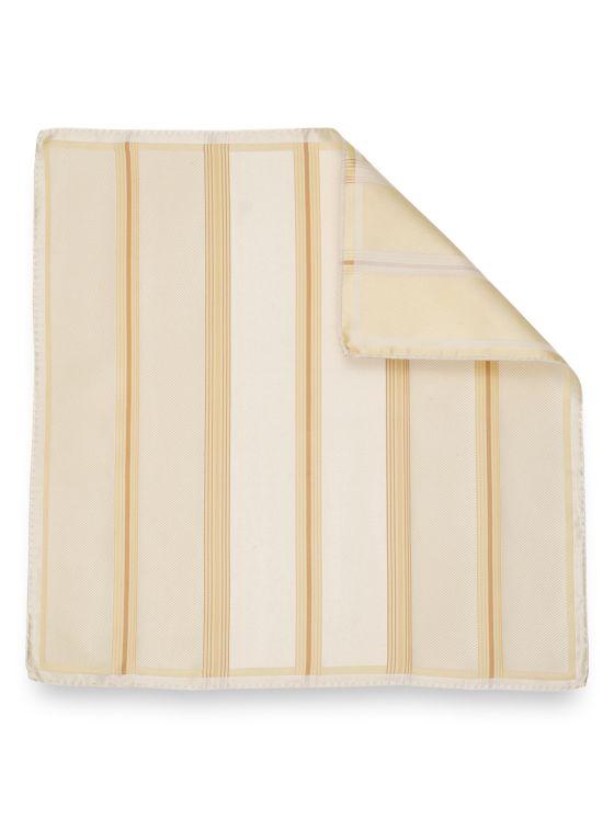 Silk Stripe Pocket Square