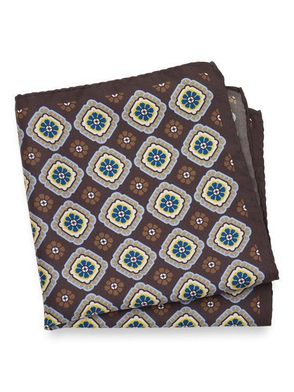 Silk Medallion Pocket Square