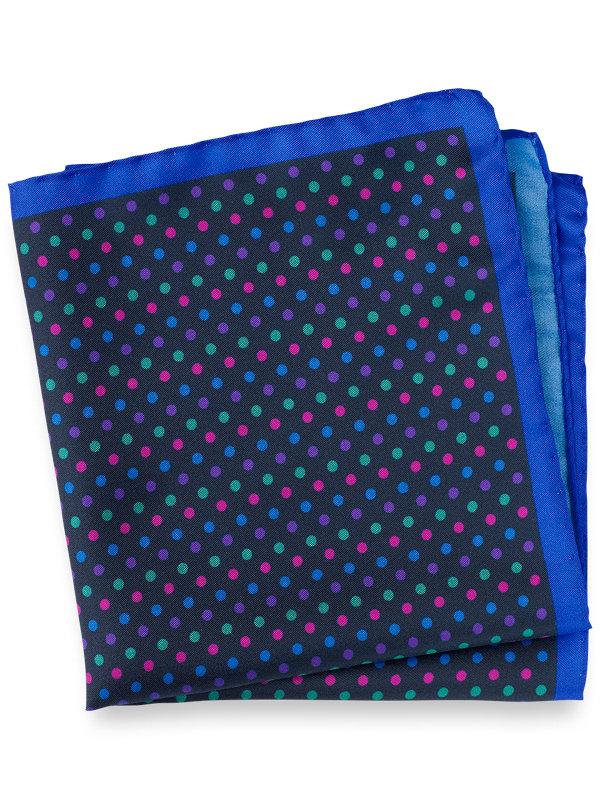 Multi Dot Silk Pocket Square