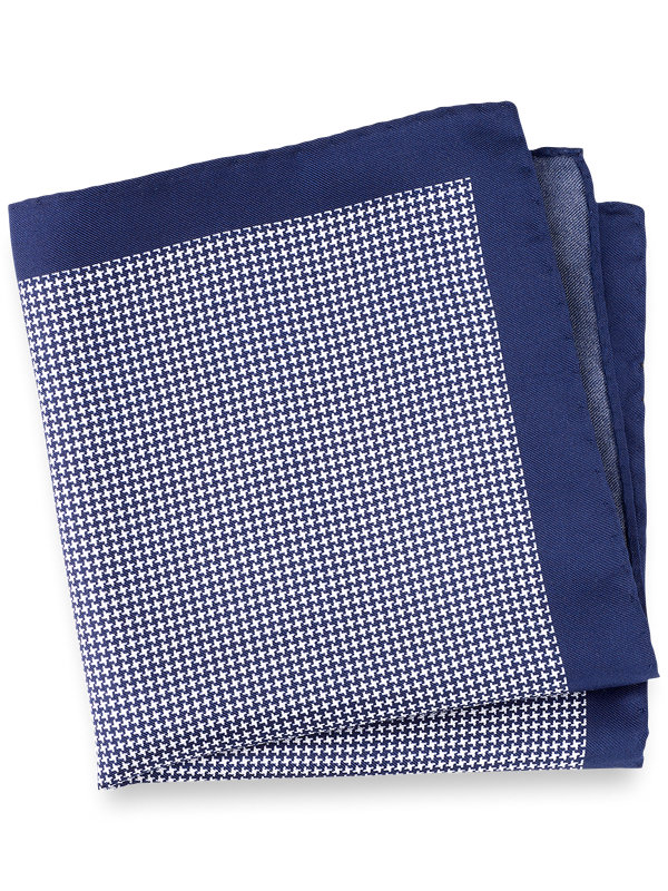 Houndstooth Silk Pocket Square