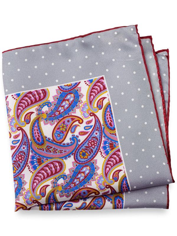 Paisley & Dot Silk Pocket Square
