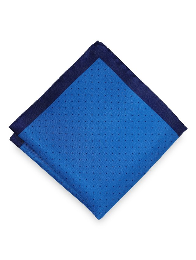 Silk Micro Dot Pocket Square