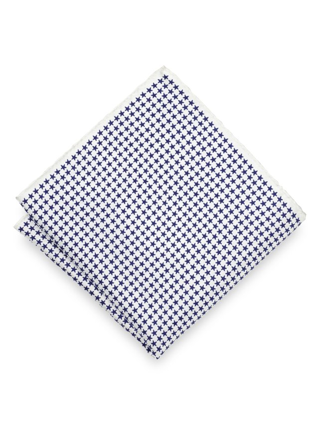 Silk Stars Pocket Square