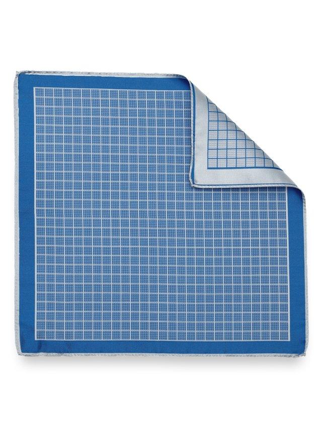 Silk Grid Paisley Pocket Square
