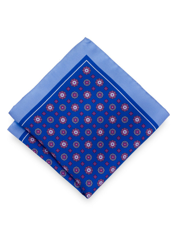 Silk Medallion Pocket Square