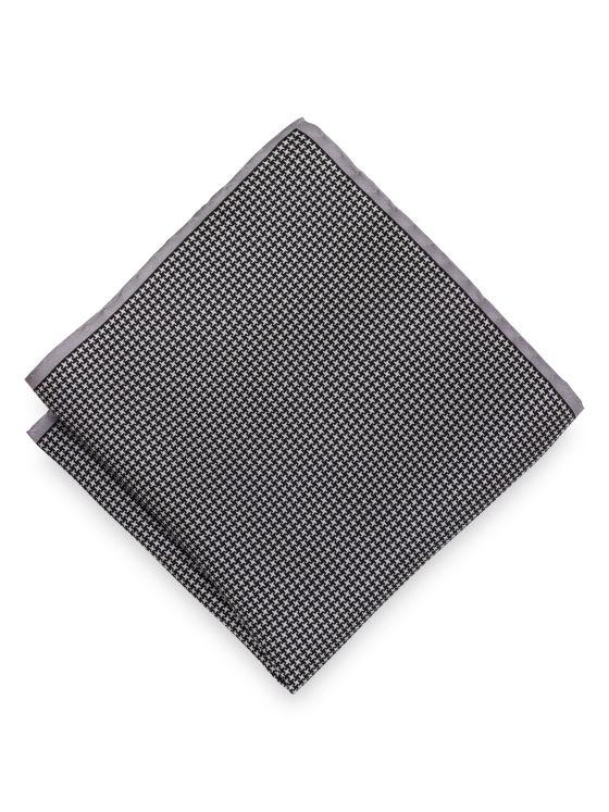 Silk Houndstooth Pocket Square