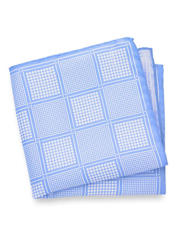 Silk Geometric Dots Pocket Square