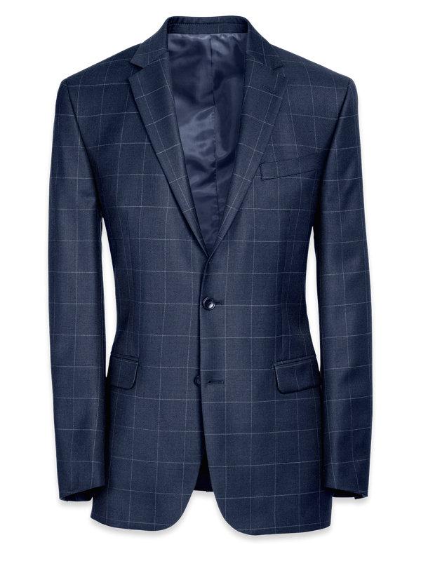 Classic Fit Essential Wool Notch Lapel Suit Jacket