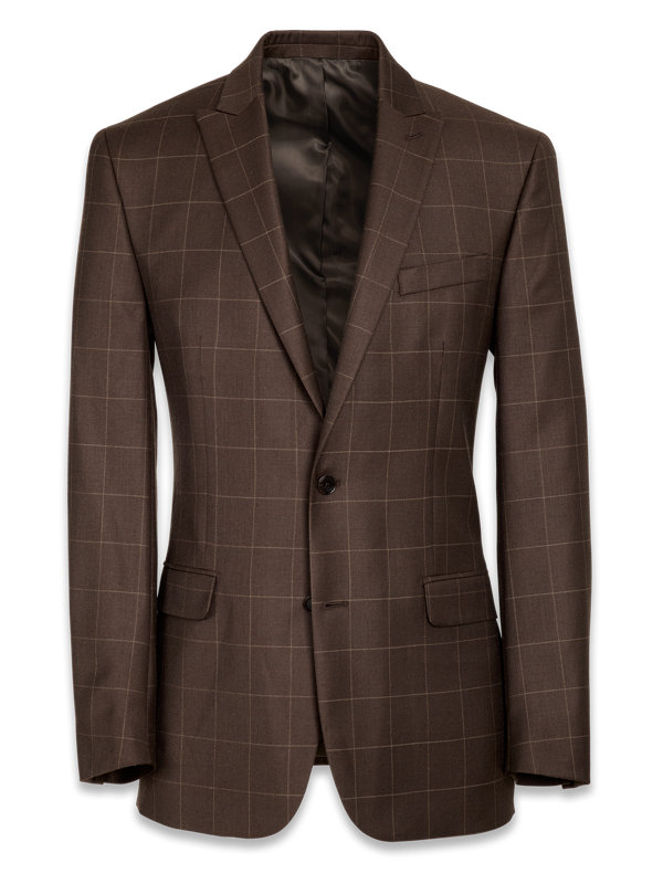 Classic Fit Essential Wool Peak Lapel Side Vents Suit Jacket