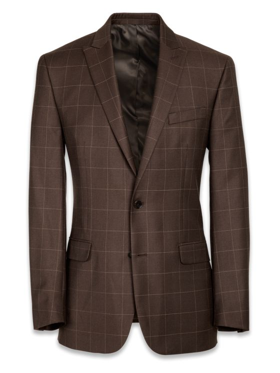 Essential Wool Peak Lapel Suit Jacket
