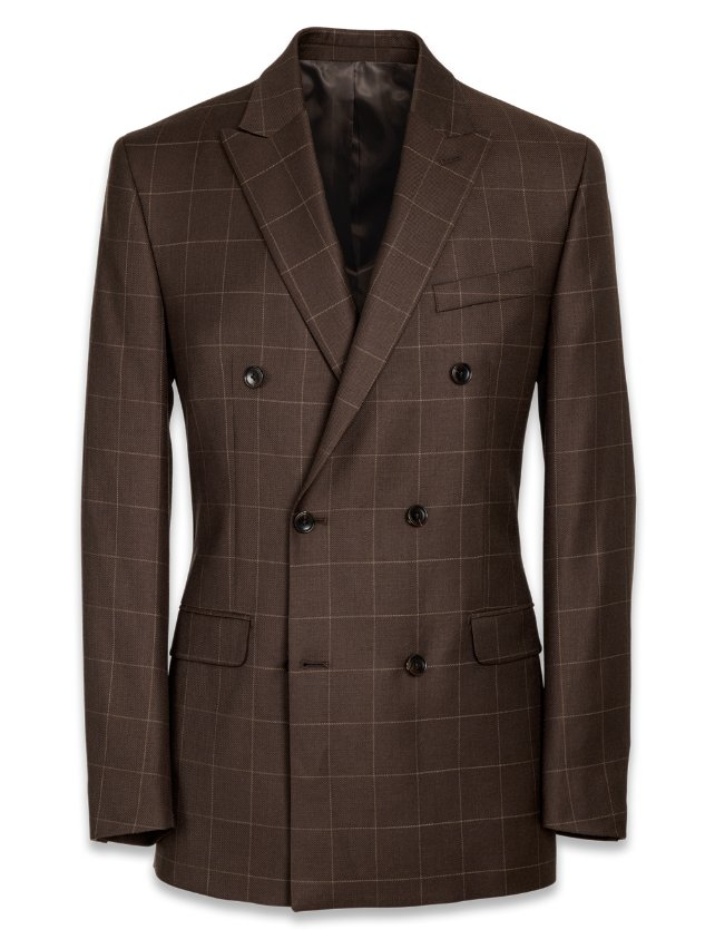 Wool Double Breasted Suit Jacket