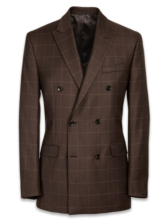 Essential Wool Double Breasted Suit Jacket