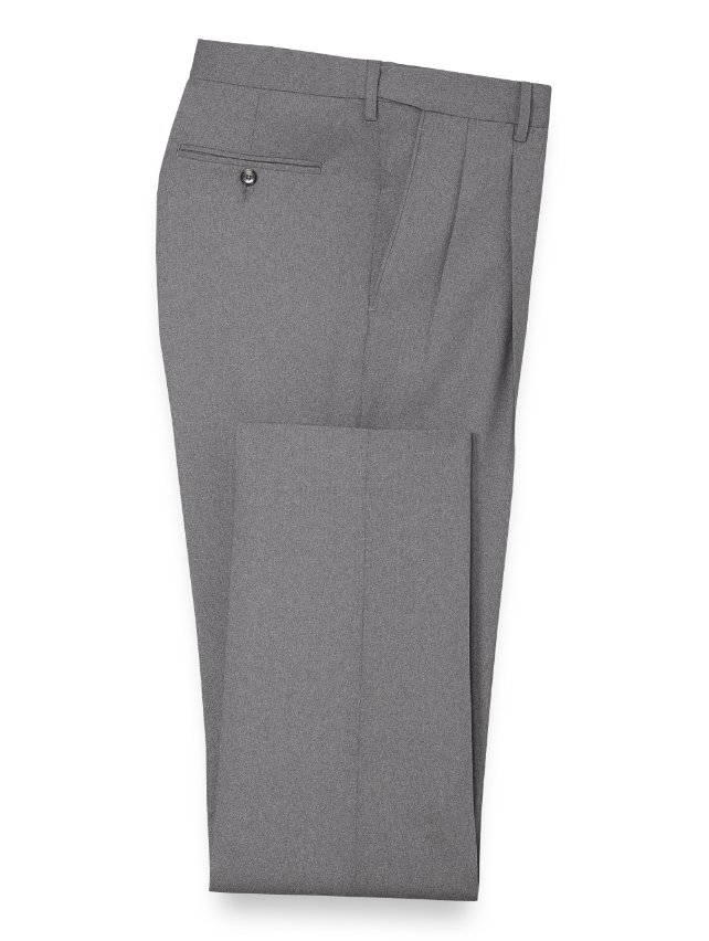 Wool Pleated Suit Pants