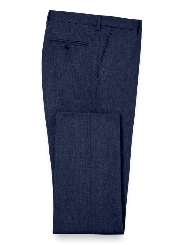 Classic Fit Essential Wool Flat Front Suit Pants