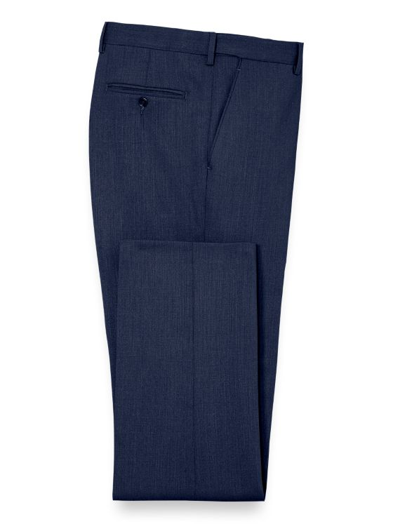 Essential Wool Flat Front Suit Pants