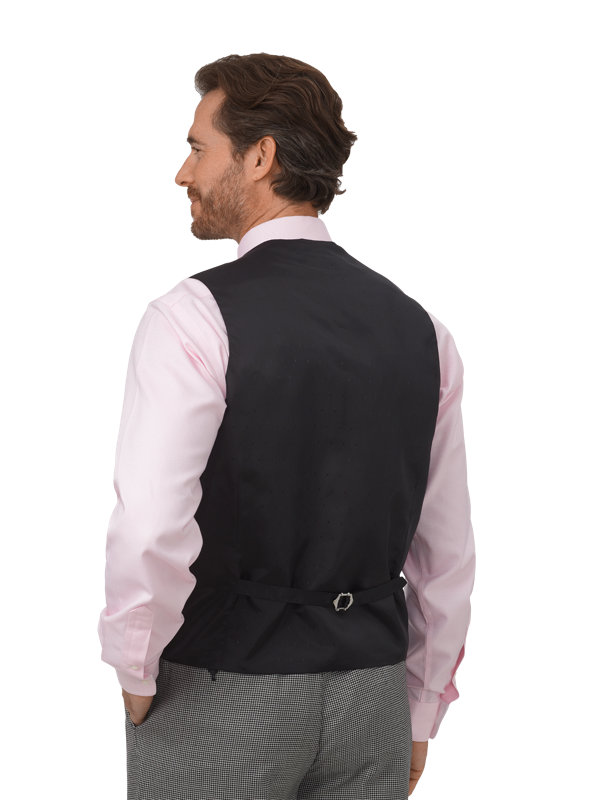 Classic Fit Wool Houndstooth 5 Button Notch Lapel Vest