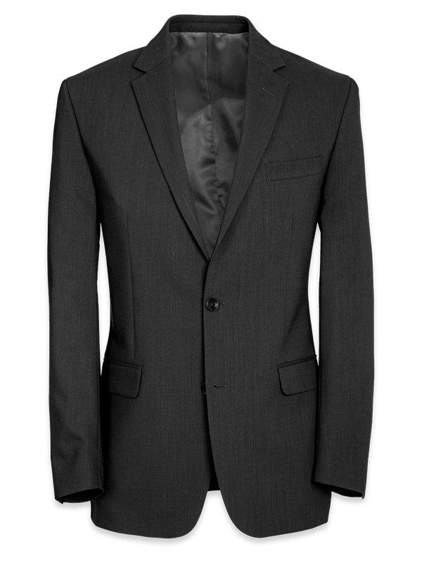 Tailored Fit Essential Wool Notch Lapel Suit Jacket