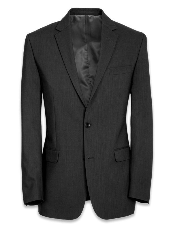Tailored Fit Wool Essential Wool Notch Lapel Suit Jacket
