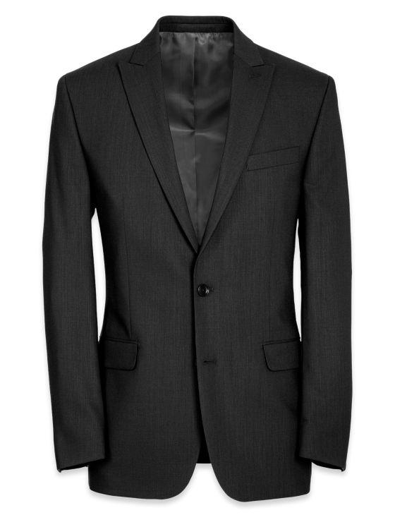 Tailored Fit Essential Wool Peak Lapel Suit Jacket