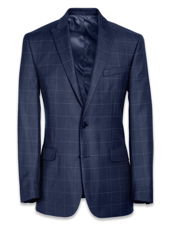 Tailored Fit Essential Wool Peak Lapel Suit Jacket