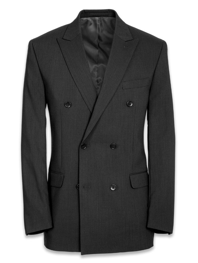 Tailored Fit Essential Wool Double Breasted Suit Jacket