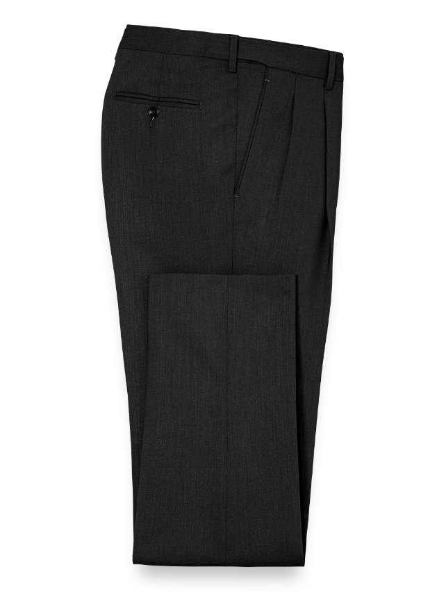 Tailored Fit Essential Wool Pleated Suit Pants