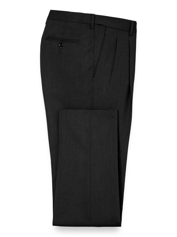 Tailored Fit Essential Wool Pleated Pants