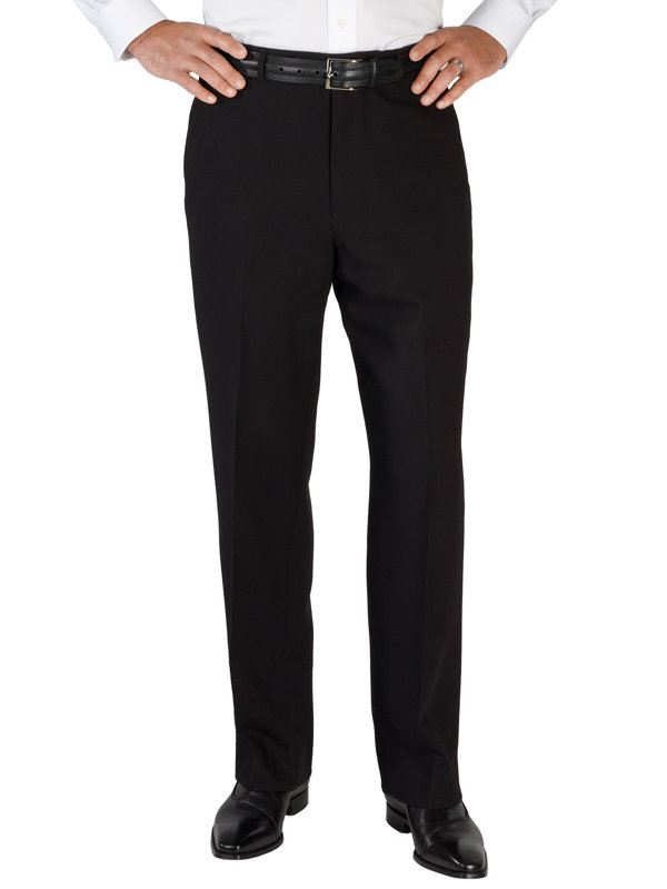 Tailored Fit Essential Wool Flat Front Suit Pant