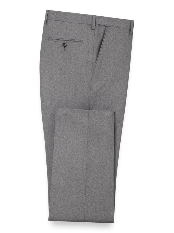 Tailored Fit Essential Wool Flat Front Pants