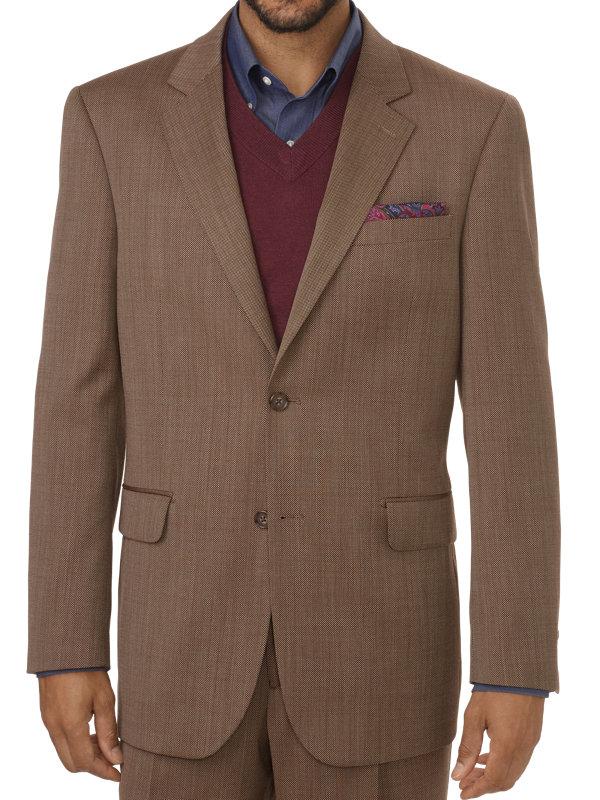 Tailored Fit Impeccable Birdseye Notch Lapel Suit Jacket