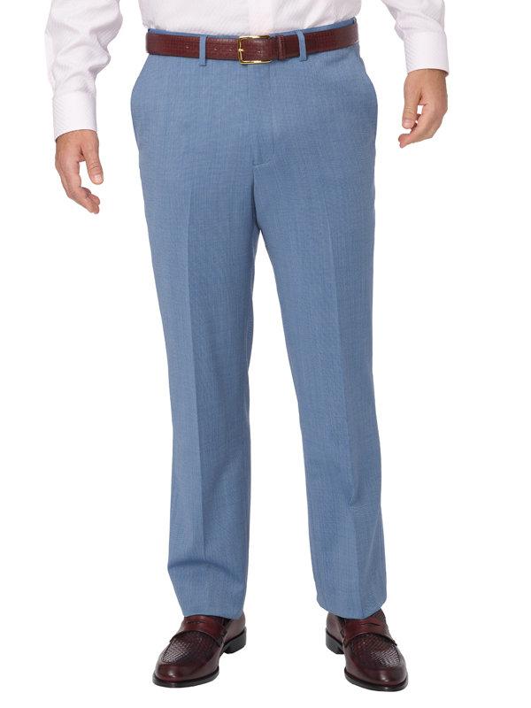 Tailored Fit Impeccable Birdseye Flat Front Suit Pant