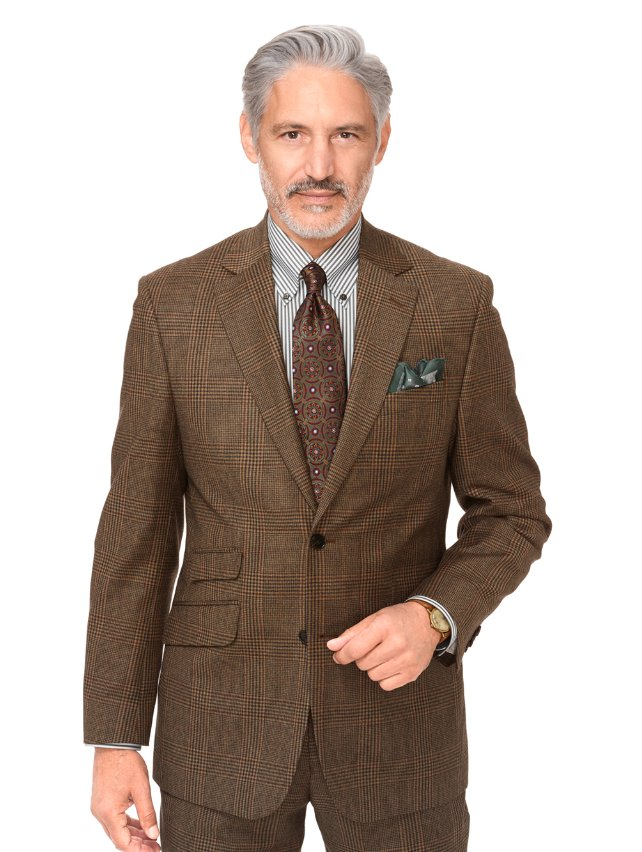 Wool Glen Plaid Suit Jacket