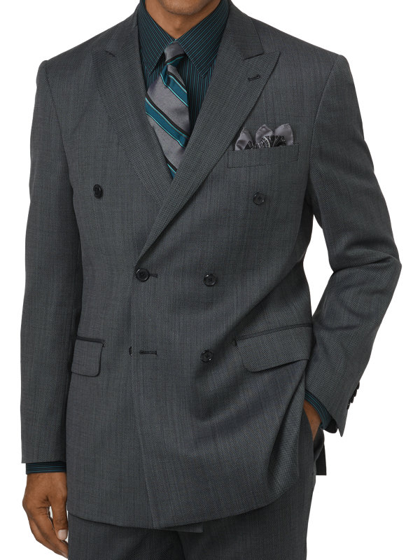 Classic Fit Impeccable Double Breasted Peak Lapel Suit Jacket
