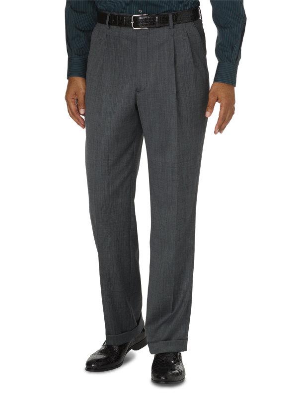 Classic Fit Impeccable Pleated Suit Pant