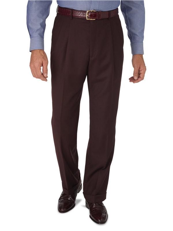 Classic Fit Sharkskin Pleated Suit Pant