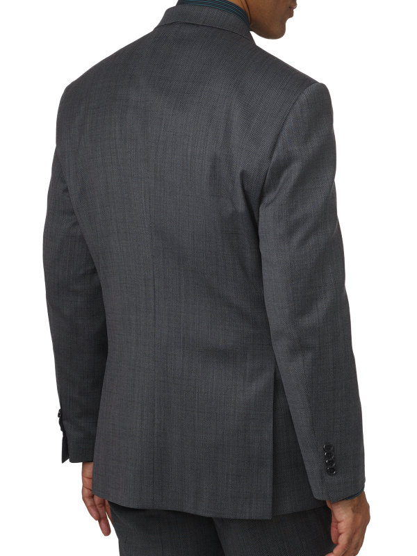 Tailored Fit Impeccable Double Breasted Peak Lapel Suit Jacket