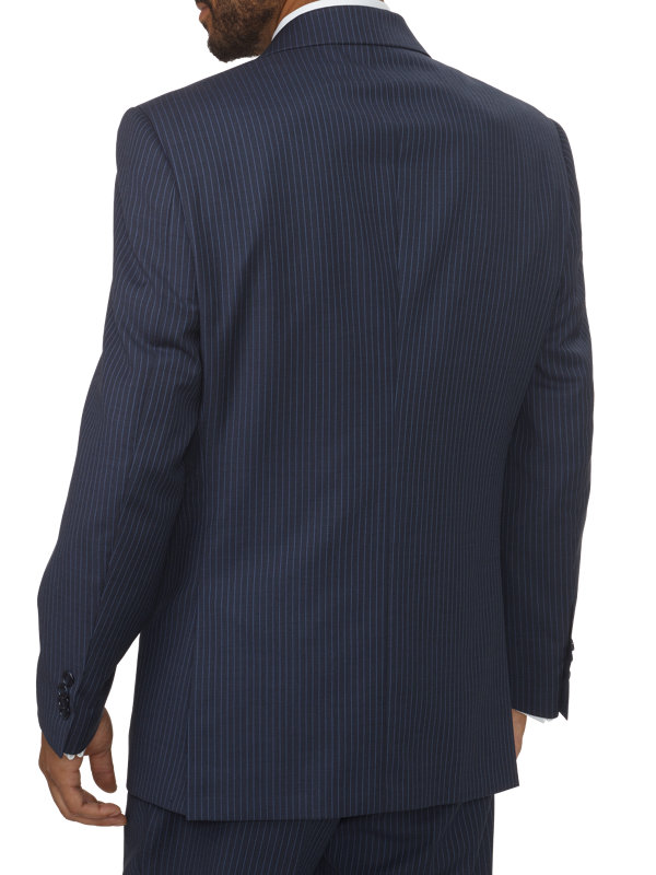 Tailored Fit Stripe Notch Lapel Suit Jacket