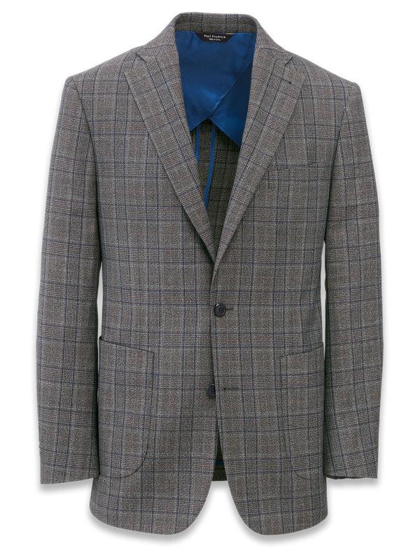 Plaid Notch Lapel Suit Jacket