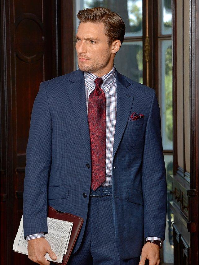 Super 100's Wool Textured Suit Jacket
