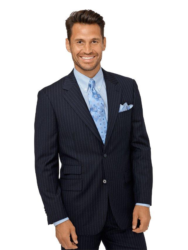 Wool & Cashmere Stripe Suit Jacket