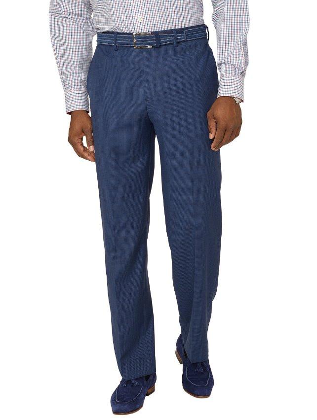 Super 100's Wool Textured Flat Front Suit Pants