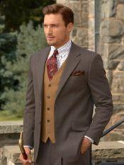 Super 100's Wool Plaid Suit Jacket