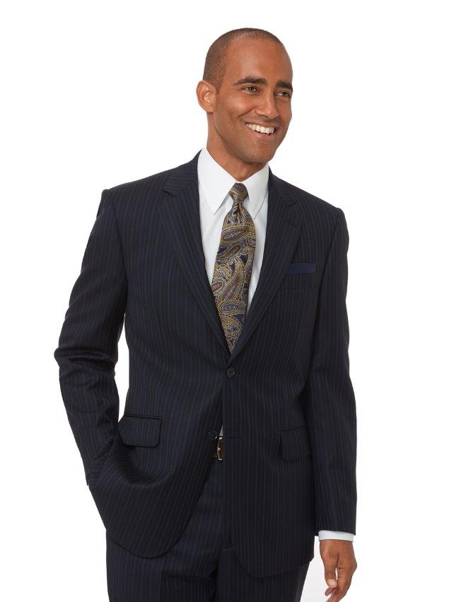 Super 100's Wool Stripe Suit Jacket