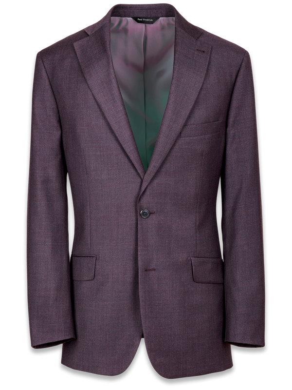 Tailored Fit Dark Purple Notch Lapel Jacket