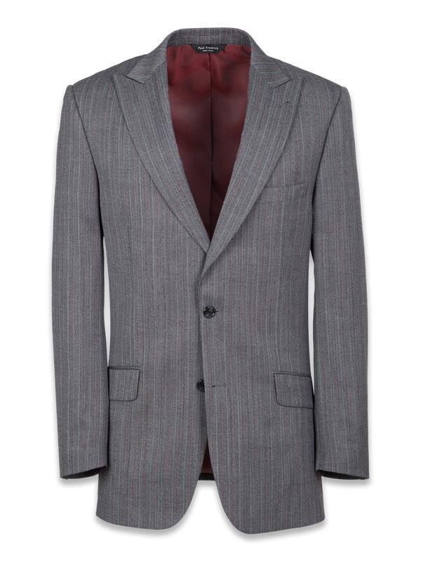 Tailored Fit Herringbone Peak Lapel Suit Jacket