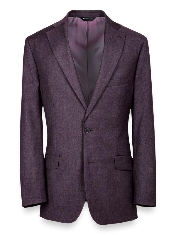Classic Fit Dark Purple Notch Lapel Suit Jacket