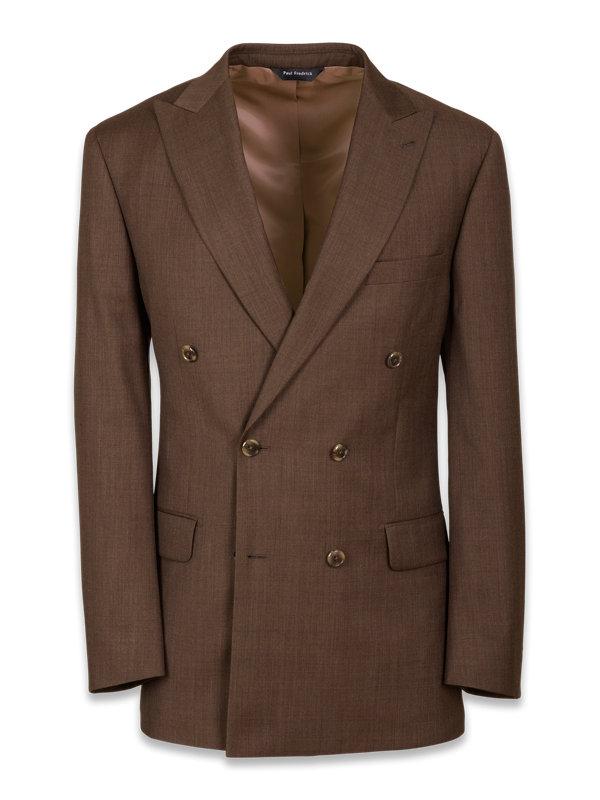 Classic Fit Double Breasted Peak Lapel Suit Jacket