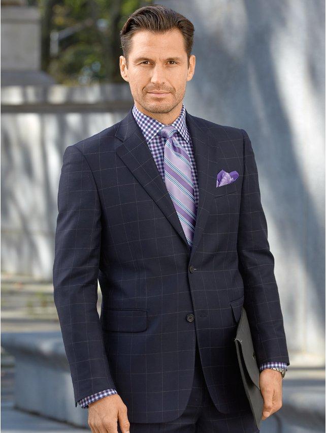 Wool Single Breasted Suit Jacket