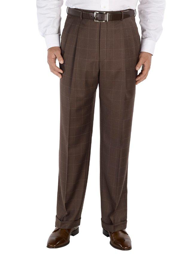 Wool Pleated Suit Pants